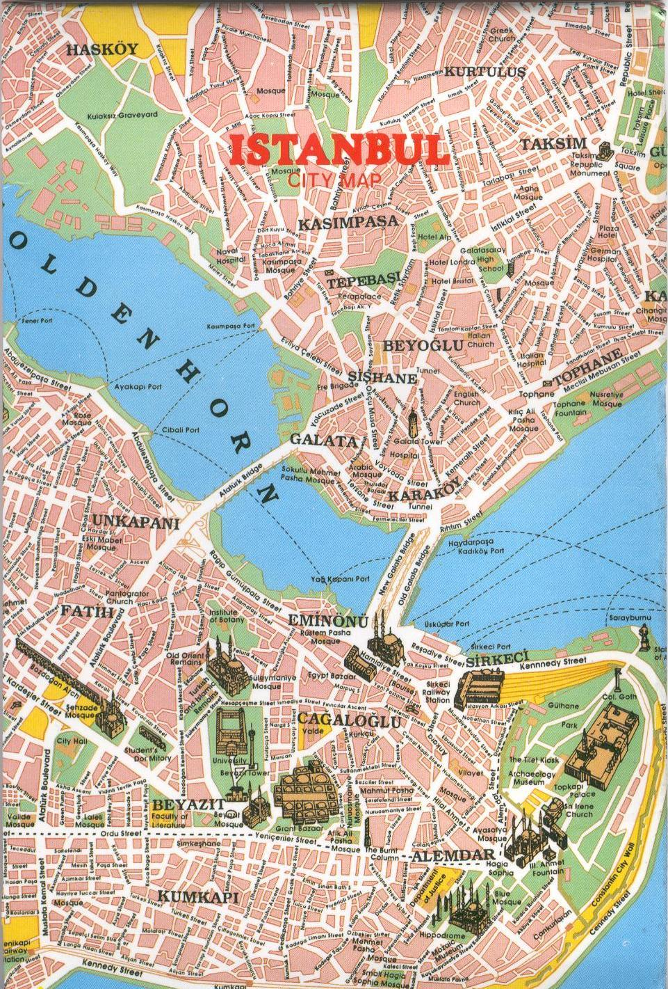 Mapa Monumentos Istambul, Turquia 3