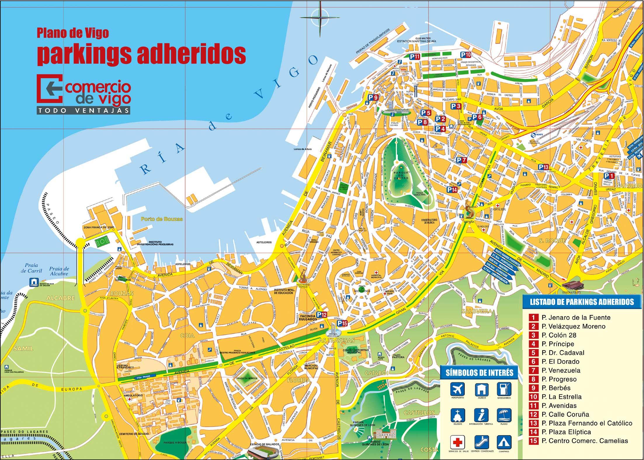 Mapas de Vigo, Espanha 1