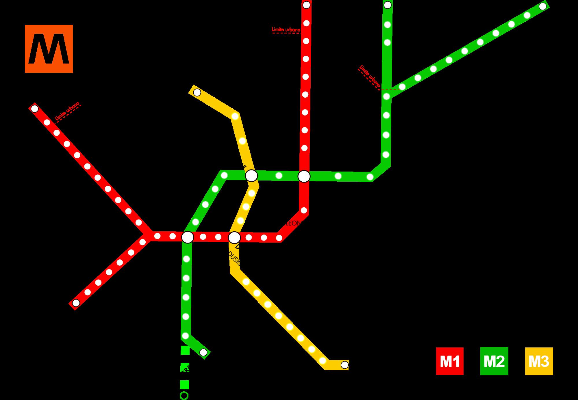 Mapa Metro Milão 1