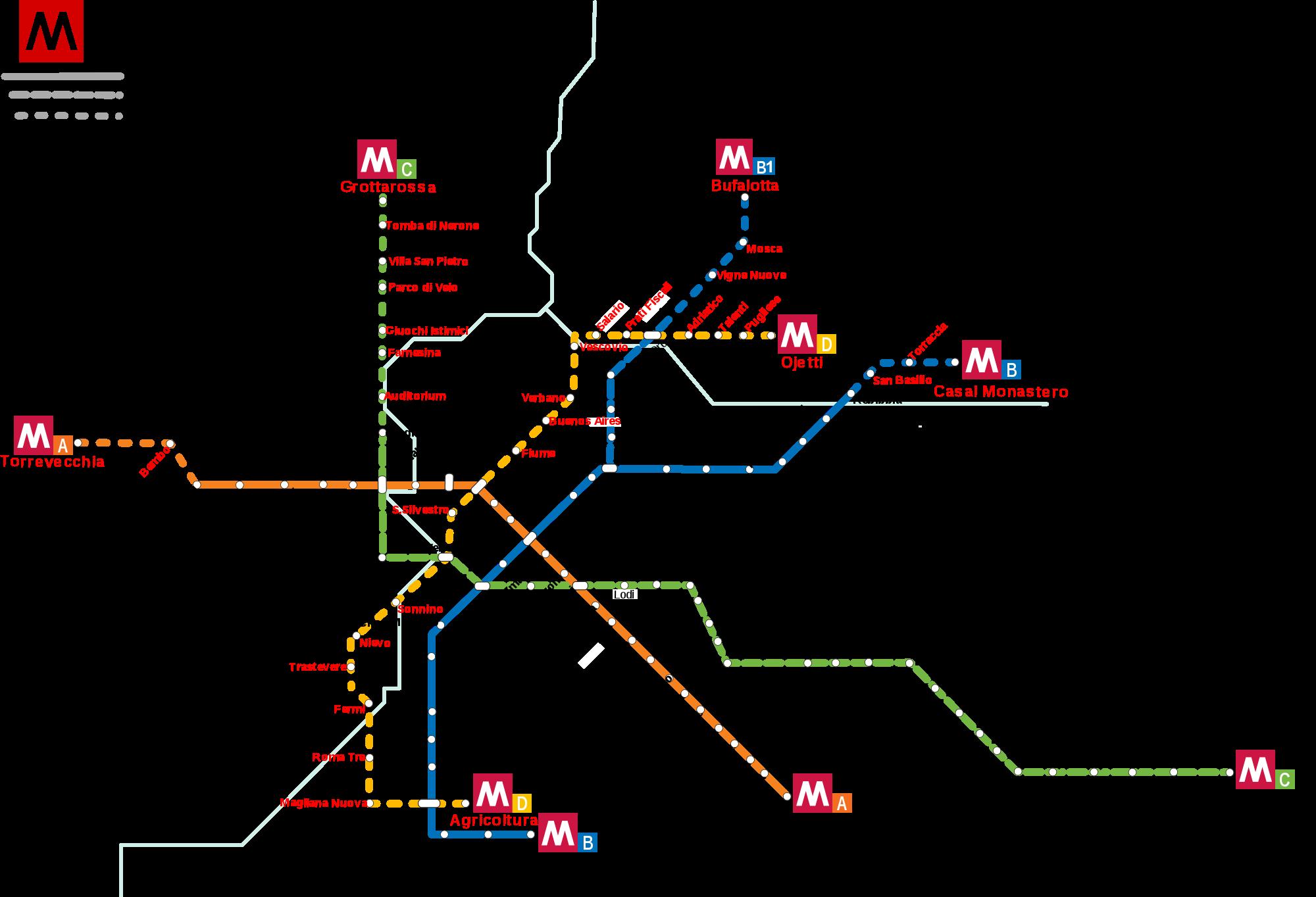 Mapa Metro Roma 2