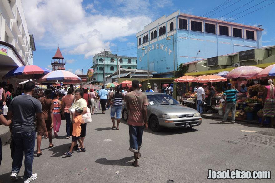 Centro de Georgetown perto do mercado Stabroek,  Visitar a Guiana
