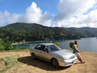 Pirates Bay com o carro que aluguei