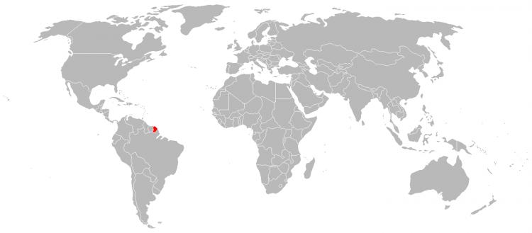 Mapa Guiana Francesa