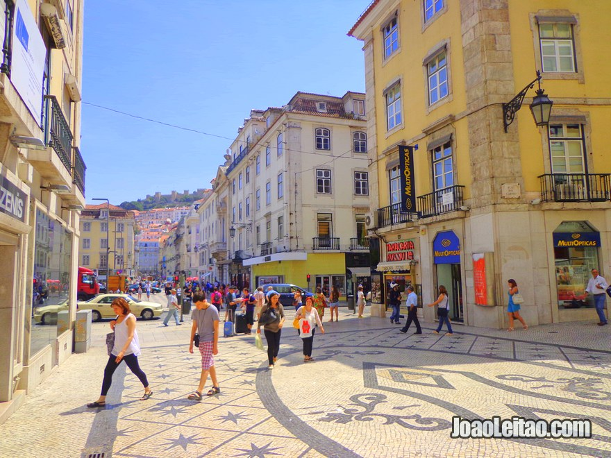 Rua na Baixa de Lisboa