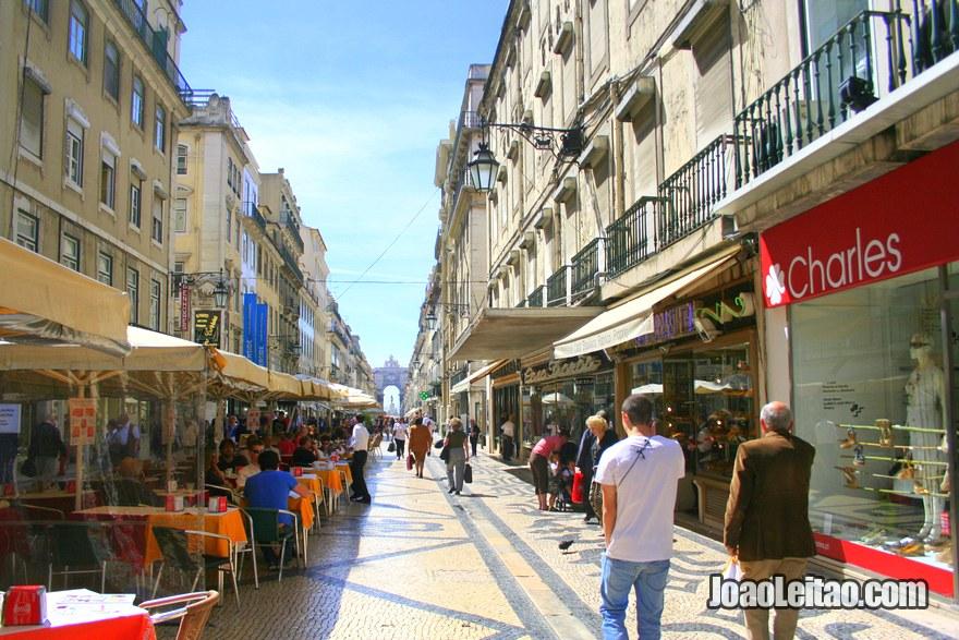 Foto da Rua na Baixa de Lisboa