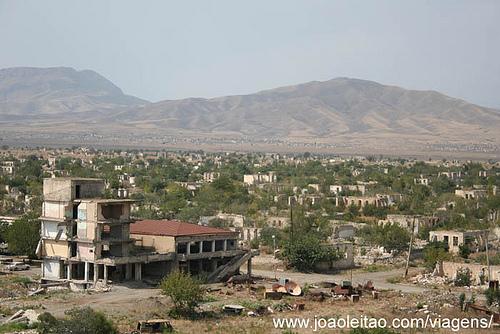 Fotografias de Agdam cidade Fantasma no Alto Carabaque 1