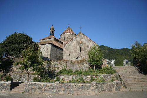 Fotografias estrada Tbilisi até Mosteiro Goshavank na Arménia 1
