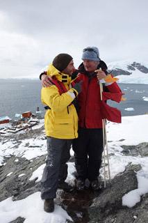 Eu com Jonathan Shackleton na Paradise Bay