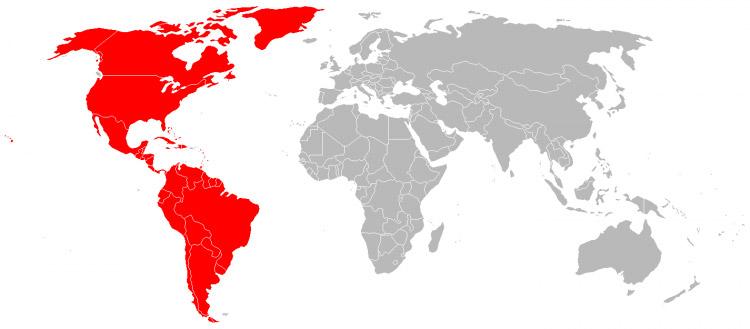 Mapa Américas