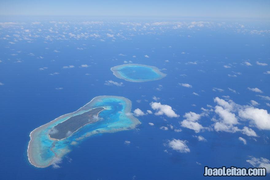 Ilhas de Fiji no meio do Oceano Pacífico