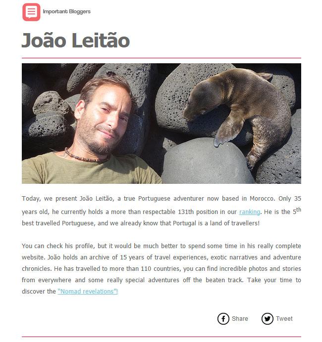 joaoleitao the best travelled