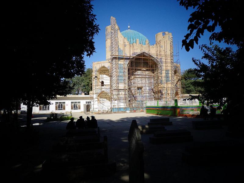 Fotografia da Mesquita Verde em Balkh no Afeganistão