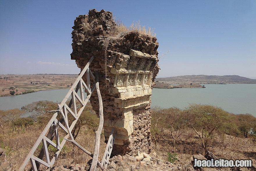Ruínas da Catedral de Gorgora Nova, na Etiópia