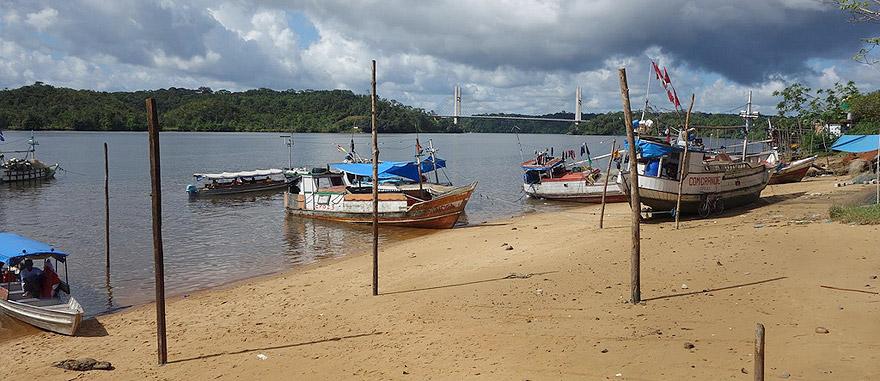Oiapoque, no Brasil