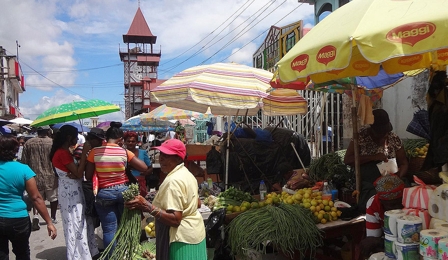 Mercado Stabroek em Georgetown a capital da Guiana