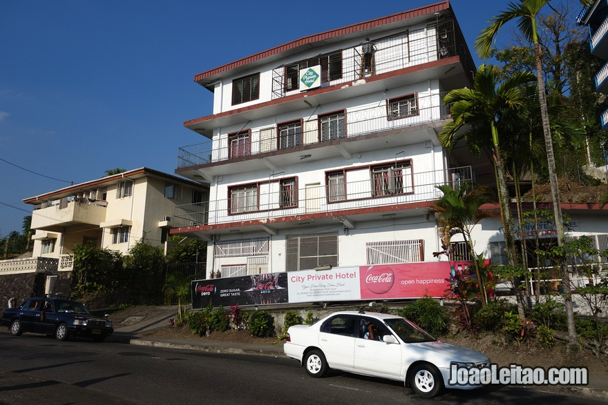 Exterior do City Private Hotel em Suva nas Ilhas Fiji
