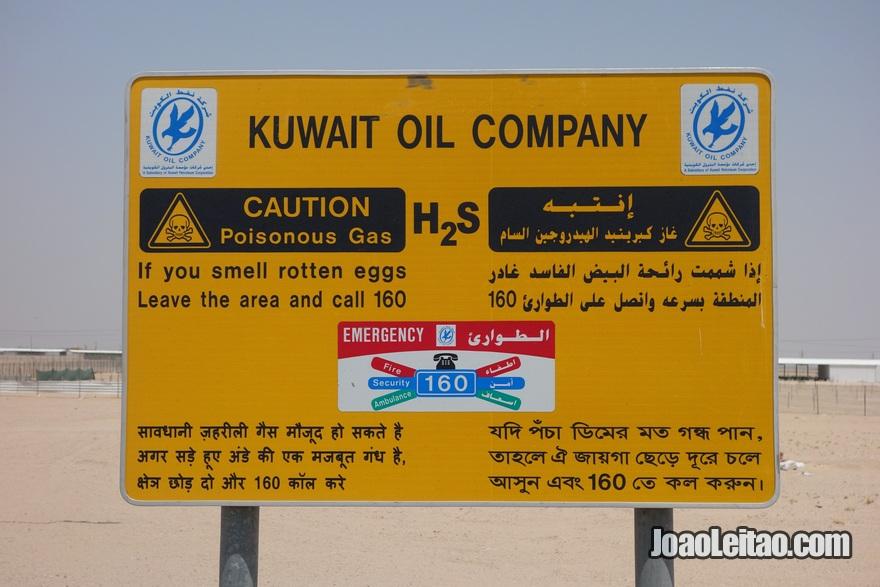 Placa da empresa petrolífera kuwaitiana
