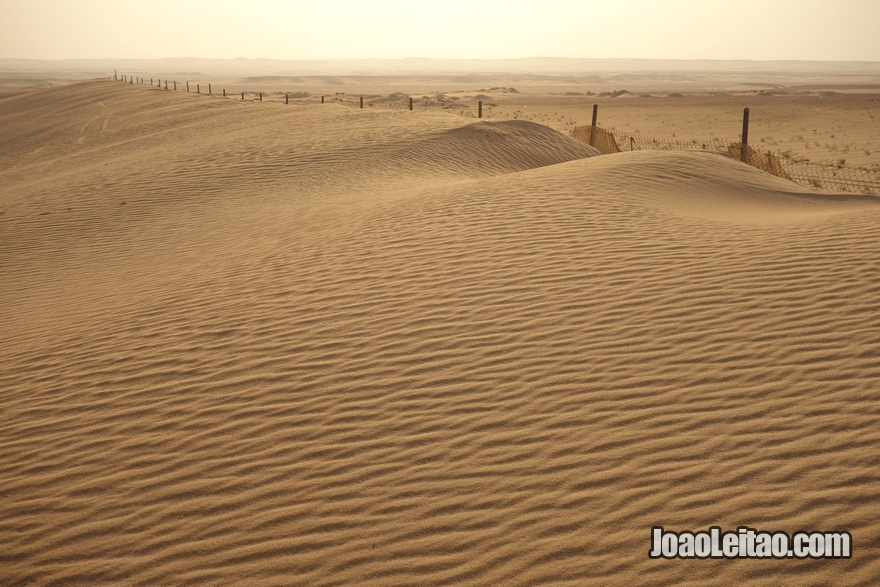 Dunas no deserto do Kuwait