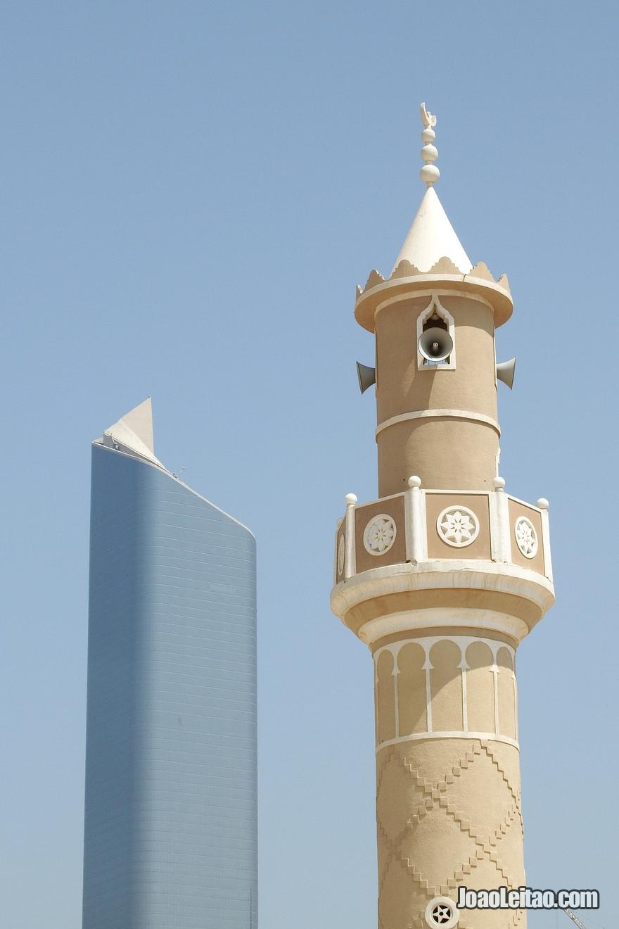 Modernidade e tradicional presente na arquitectura do Kuwait
