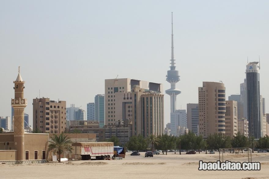 Vista da skyline da Cidade do Kuwait