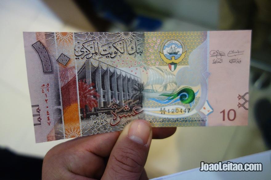 Dinheiro do Kuwait - 10 dinares kuwaitianos = 30 Euros