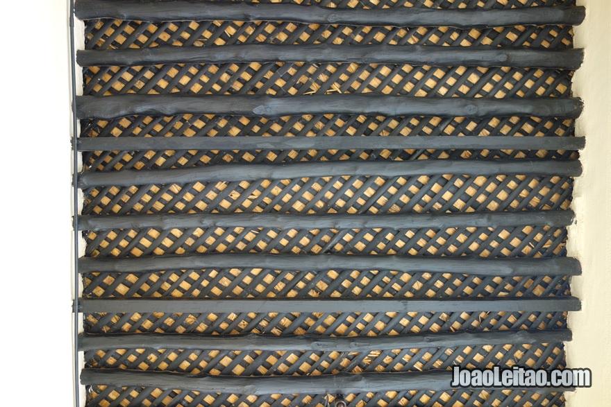 Maneira tradicional de fazer os tectos no Kuwait
