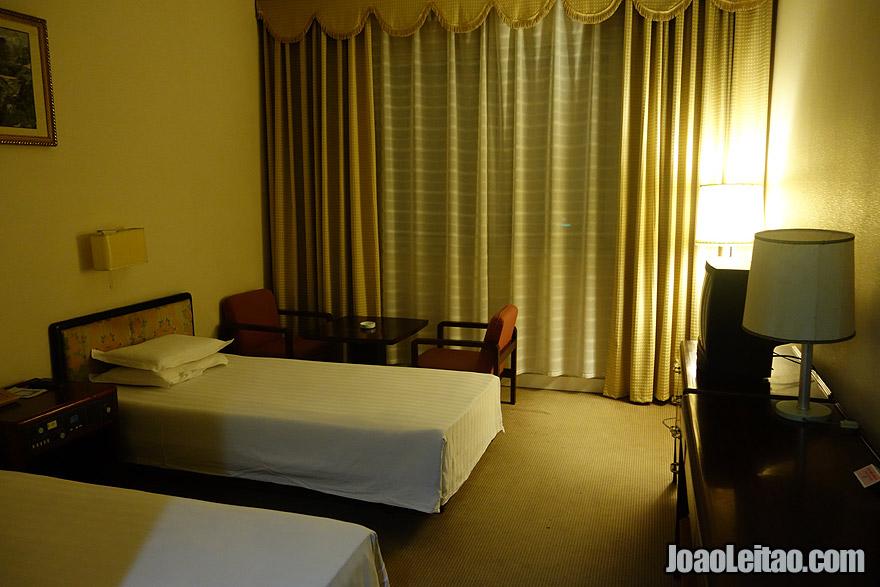 Quarto no Hotel Yanggakdo International