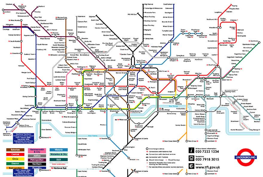 mapa rede metro londres Transportes em Londres: Como se deslocar na cidade mapa rede metro londres