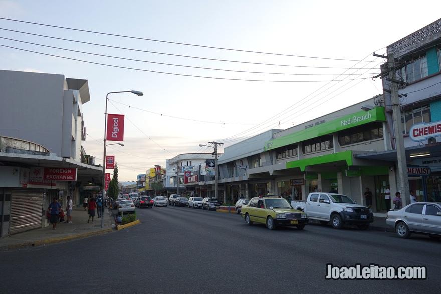 Centro da cidade de Nadi nas Fiji