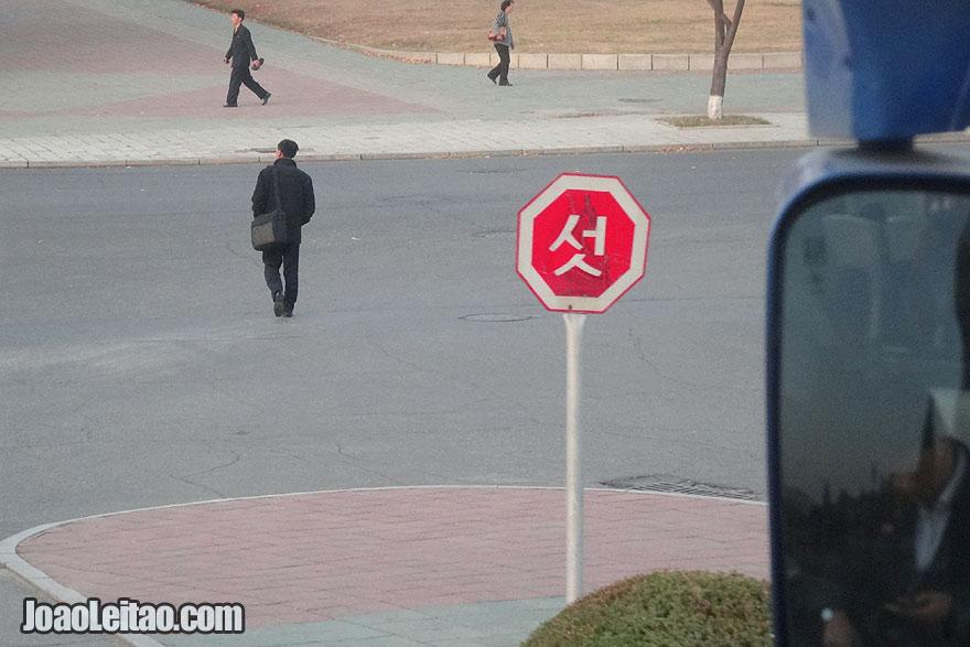 Sinal de Stop Coreano