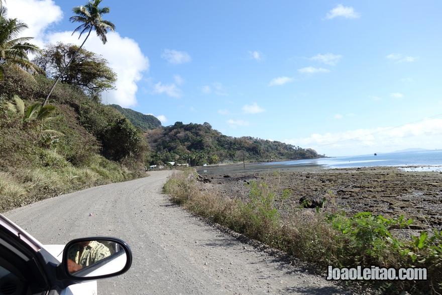 Estrada do caminho do Táxi aeroporto até Levuka, Fiji