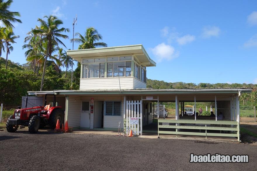Aeroporto de Levuka nas Ilhas Fiji