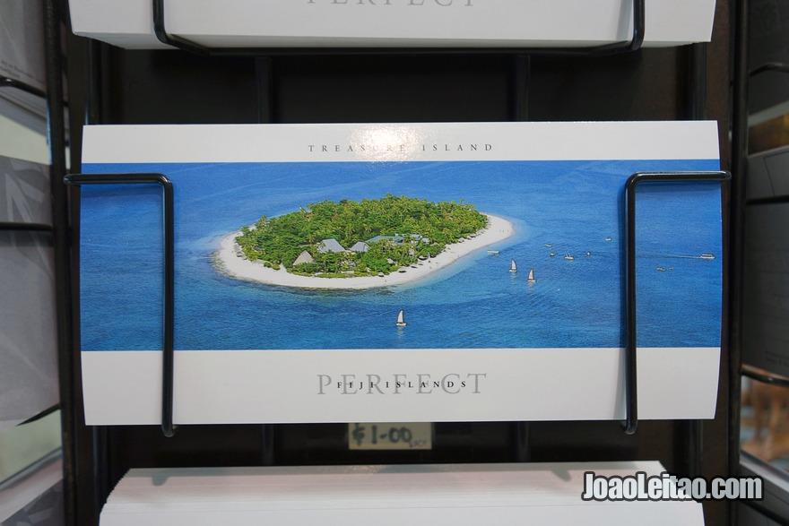 Enviar um postal para casa desde as Ilhas Fiji