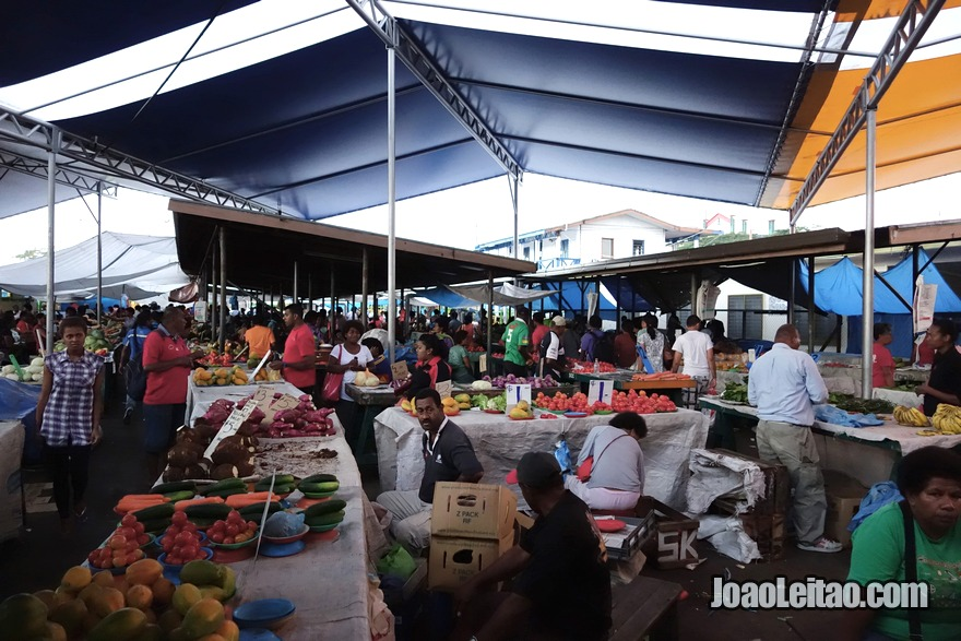 Visitar o mercado central de Suva