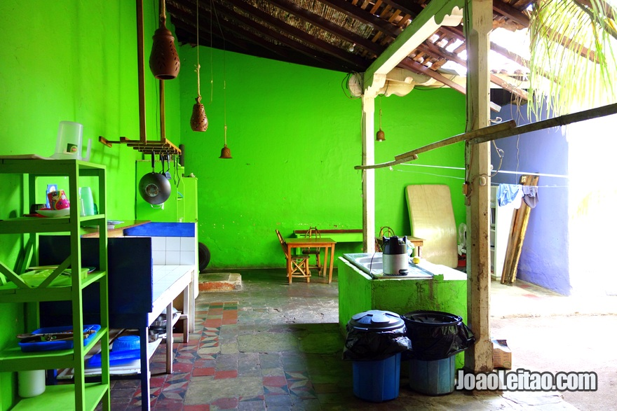 Cozinha da Hospedaje La Libertad em Granada, Nicarágua