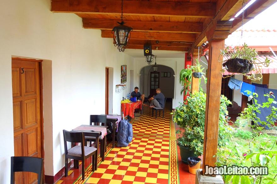 Patio at Hotel El Pasar de los Años in Antigua
