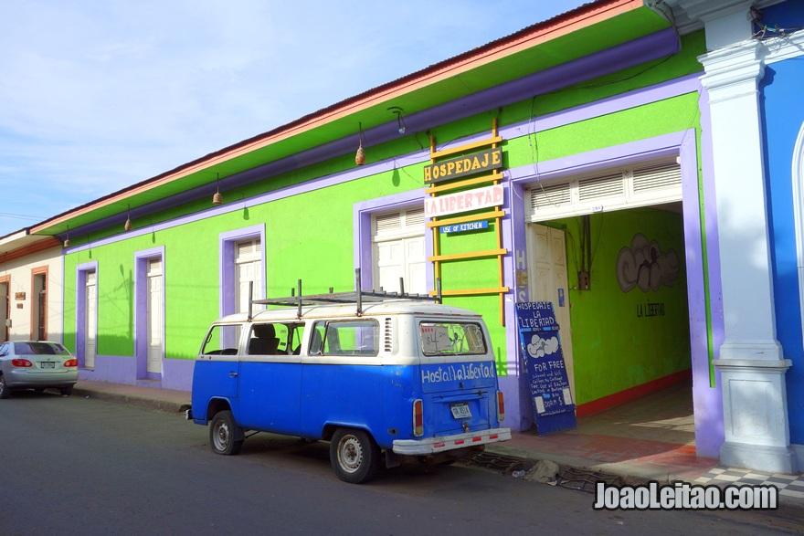 Entrada da Hospedaje La Libertad em Granada, Nicarágua