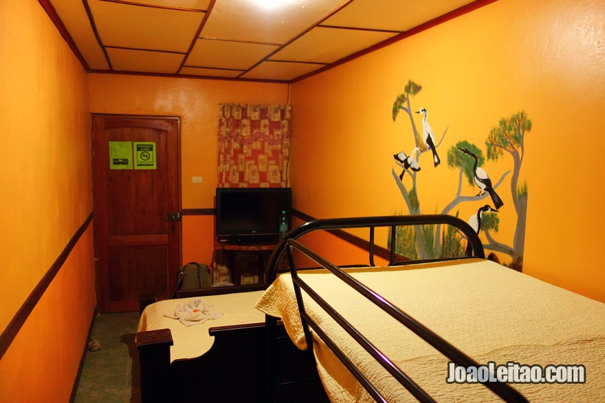 Quarto do Hotel y Cabinas Jabiru em Los Chiles