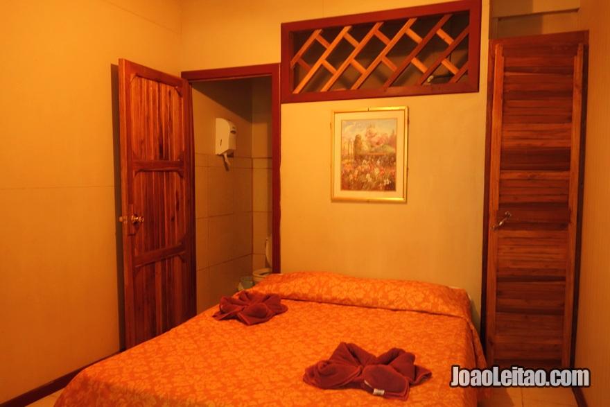 Quarto do Hotel Cabinas Talamanca em Puerto Viejo na Costa Rica