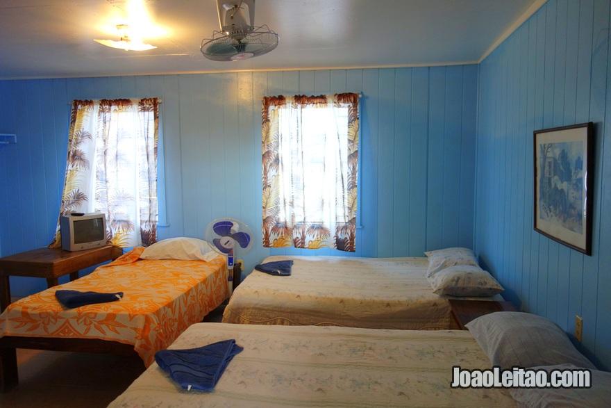 Quarto do Hotel Utila na Ilha Útila, Honduras