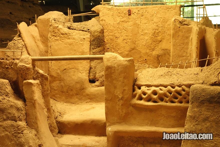 Sítio arqueológico pré-colombiano maia de Joya de Cerén