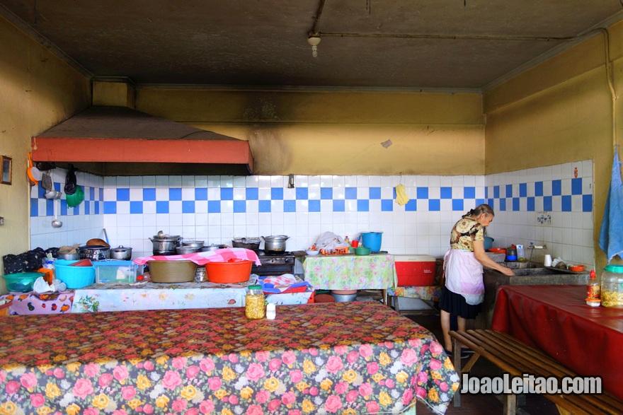 Restaurante dentro do Mercado de Suchitoto