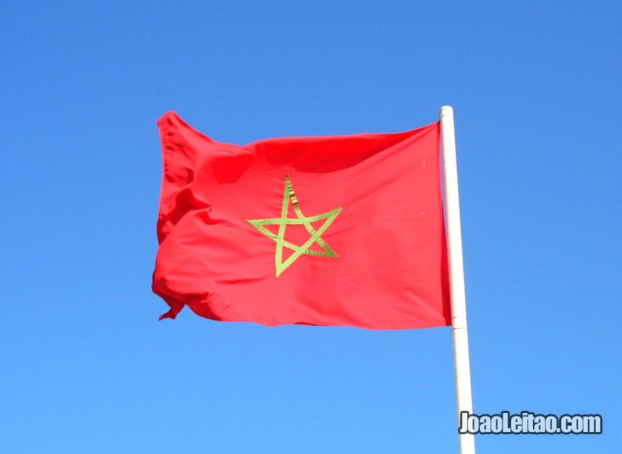 Foto da Bandeira de Marrocos