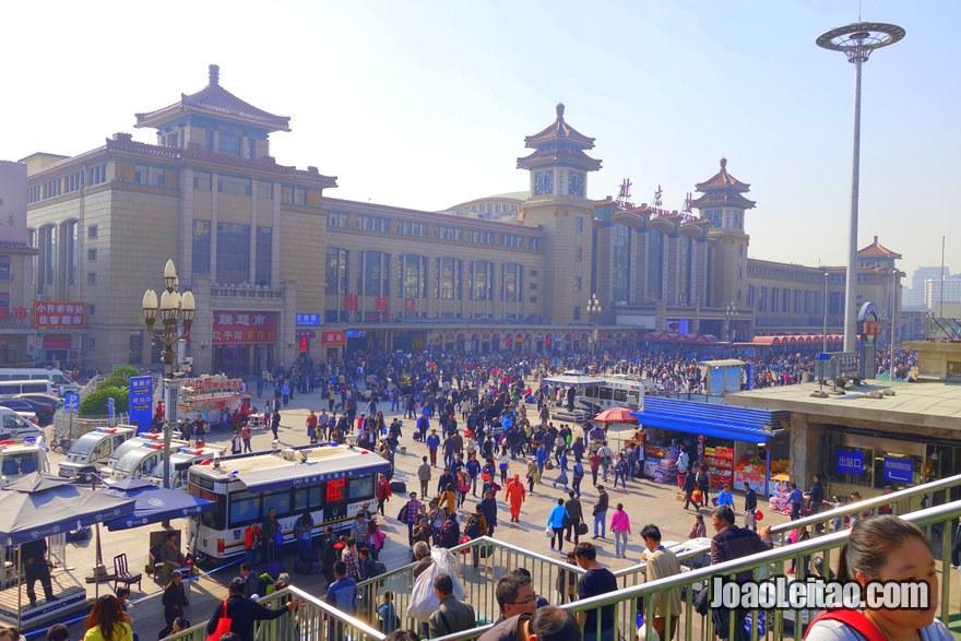 Foto da Estação de Comboios (trem) central de Pequim