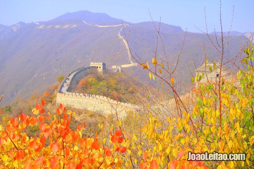 Linda vista da Grande Muralha da China