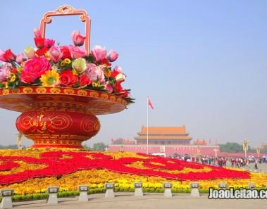 Praça Tiannamen no centro de Pequim