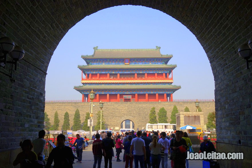 Portão Zhengyang na Praça da Paz Celestial