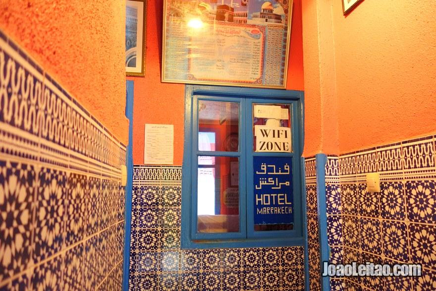 Recepção do Hotel de Marrakech em Rabat, Marrocos