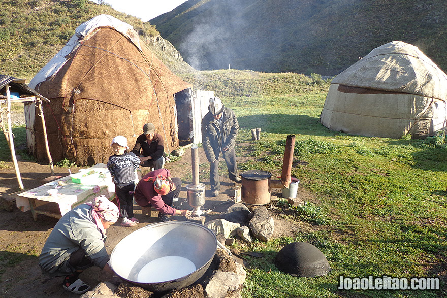 Nómadas quirguizes da Ásia Central