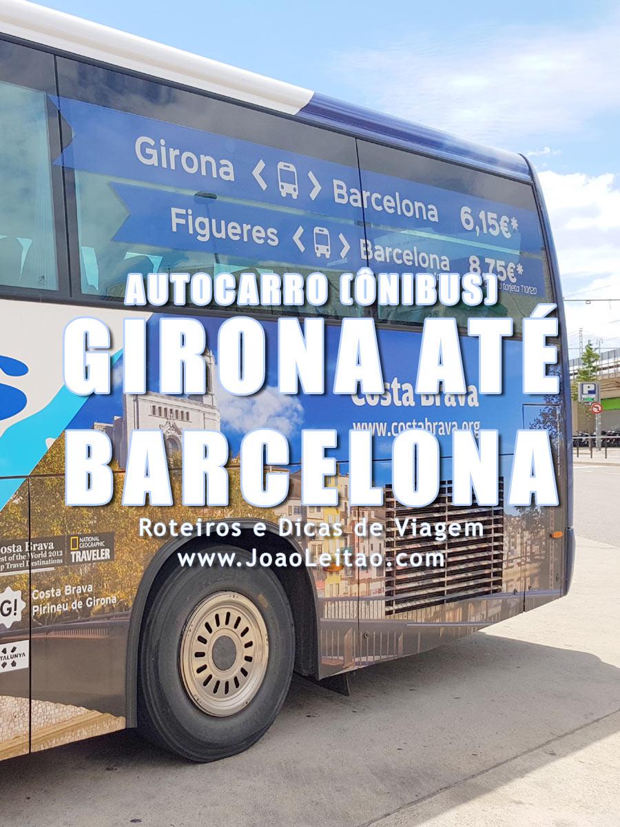 Autocarro (ônibus) Girona até Barcelona – Preços e Horários